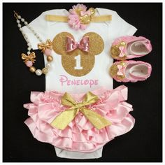 First Birthday outfit/ Minnie birthday/Minnie by BabyTrendzz