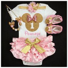 First Birthday outfit/ Minnie birthday/Minnie by BabyTrendzz