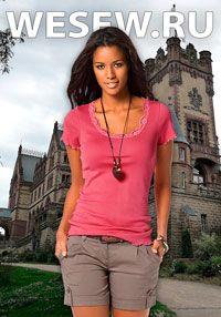 Готовая выкройка блузки или футболки Ог 92-96-100 см