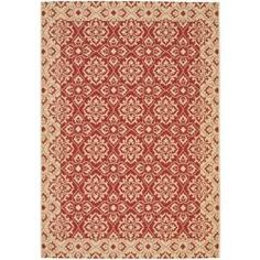 Indoor/ Outdoor Red/ Creme Rug (4' x 5'7) | Overstock.com Shopping - Great Deals on Safavieh 3x5 - 4x6 Rugs