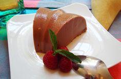 Receta para preparar GELATINA DE CHOCOLATE