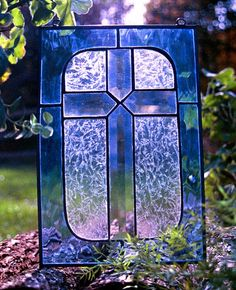 Stained Glass Cross Panel
