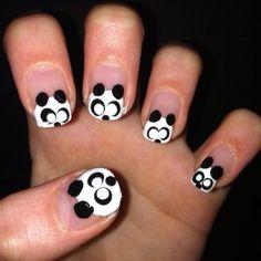 Panda nails-@Amy Lyons Wickless