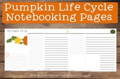 Pumpkin Notebooking Pages