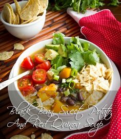 Black Bean, Sweet Potato, And Red Quinoa Soup | 28 Delicious Vegan Holiday Recipes