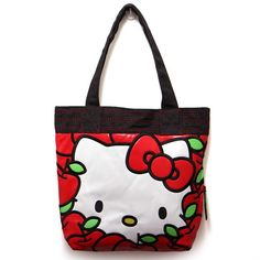 Hello Kitty Loves Apples Tote Bag