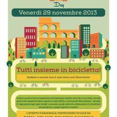 """""""Bike to School"""", tutti insieme in bicicletta, Roma-Milano-Bologna-Napoli"""