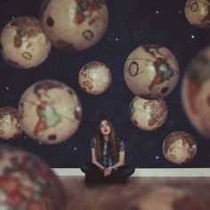 Around the world: Laura used a single globe to create this image. (Laura Williams/Flickr) | The Illusionist: Photographer's surreal snaps wi...