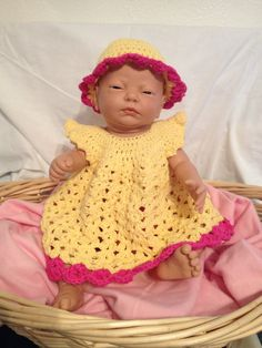 Crochet dress hat & diaper cover by Gammysshop on Etsy