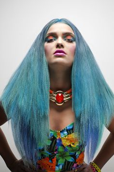 Blue Haired beauty! Colour and Style by KTIZO Hair & Skin Colour, Hair, Blue, Beauty, Style, Color, Swag, Stylus, Strengthen Hair
