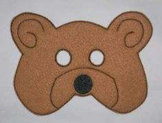 Free Embroidery Designs - Bear Mask