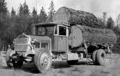 Old log truck | Keep on trucking | Pinterest