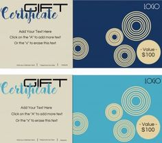 20 best gift certificate templates with logo images on pinterest