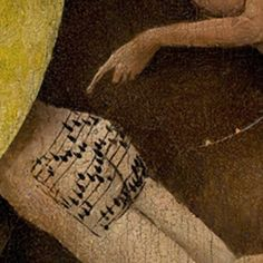 Listen to a 500 year old song painted on a butt from hell . By Hieronymus Bosch Medieval Art, Renaissance Art, Medieval Music, Hieronymus Bosch Paintings, Art Roman, Garden Of Earthly Delights, Music Writing, Great Works Of Art, Old Song