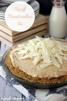 Biscoff Marshmallow Pie