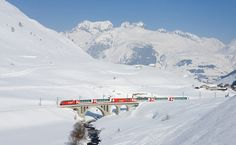 The Glacier Express between Zermatt and St Moritz (Switzerland) covers 291km and takes around 7½ hours. Best to go in winter for the spectacular snowy views: http://www.lonelyplanet.com/norway/travel-tips-and-articles/77541