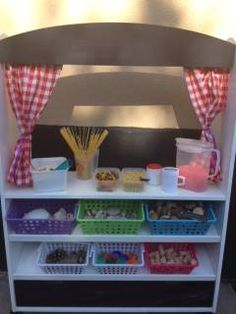 """Another image of the Pick 'n' Mix Sensory Roleplay Bar from Play, naturally ("""",) Fun Crafts For Kids, Kids Fun, Sensory Images, Science Table, Pick And Mix, Classroom Environment, Dramatic Play, Play Ideas, Preschool Kindergarten"""