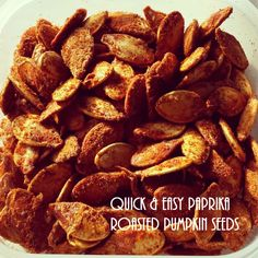 Quick and Easy Paprika Roasted Pumpkin Seeds Recipe from jenniestamp.com