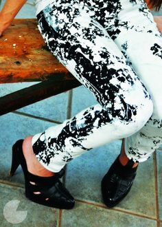 DIY Splatter Pants