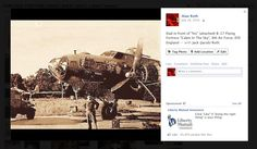 """My Dad by """"his"""" B-17F """"Cabin In The Sky"""", Eye, England, 8th Air Force"""
