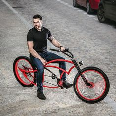 Spike. The mean lean MAD Machine! Made to measure only for You. Stretched out! Get Your at www.madbicycles.com #mad #machine #madbicycles #badass #mofo #beard #tatts #sonofagun #bikelife #bike #bicycle