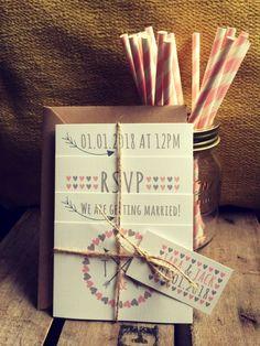 Personalised Wedding Invitations Vintage Day or Evening Rustic Photo Set Wedding Invitations Diy Handmade, Original Wedding Invitations, Making Wedding Invitations, Personalized Wedding, Wedding Card Design, Wedding Cards, Vintage Wedding Signs, Best Wedding Colors, Rustic Wedding Flowers