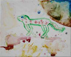 Hier wurde einfach aus dem Bauch heraus gezeichnet und gemalt und mit den Konsistenzen der Farben (Acryl und Aquarell) auf Leinwand experimentiert. Dieses Kunstwerk wurde von einem 8-jährigen Jungen gemalt. Collage, Painting, Old Magazines, Pictures To Print, Mom And Dad, Basic Colors, Boys, Artworks, Collages