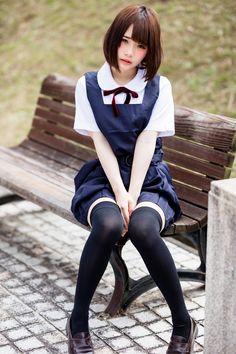 Pin by Jim Huang on Jk in 2019 School Girl Japan, School Girl Outfit, Japan Girl, Cute Asian Girls, Cute Girls, Cute Kawaii Girl, Female Pose Reference, Beautiful Japanese Girl, Figure Poses