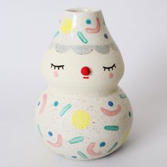 Polkaros; Adorable Face Pots Brighten Your Day