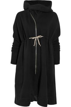 i want this - but it is 1,000$!!     DRKSHDW by Rick Owens|Oversized hooded cotton coat