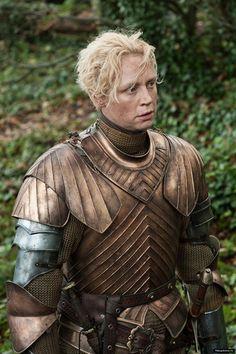 "Gwendolyn Christie as the warrior Brienne of Tarth, from HBO's ""Game of Thrones"". Martin Game Of Thrones, Game Of Thrones Tv, Game Of Thrones Characters, Game Of Thrones Brienne, Valar Morghulis, Brienne Von Tarth, Lady Brienne, Cersei Lannister, Gwendolyn Christie"