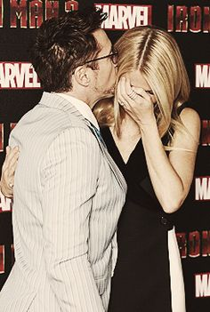 Robert Downey Jr., Gwyneth Paltrow, at the Iron Man 3 Press Conference, London April 17th, 2013