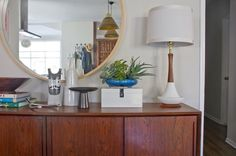 emily henderson dining room | Almost everything in that shot is vintage, except that white lacquer ...