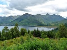 the Five Sisters of Kintail and Loch Duich. Scotland