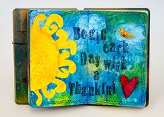 Dylusions Thankful Heart Journal Pages