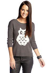 Red Camel® Fuzzy Owl Sweater