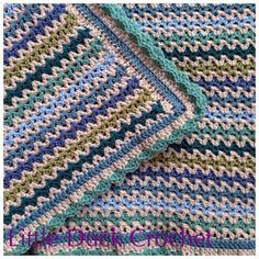 Little Duck Crochet: V Stitch Baby Blanket