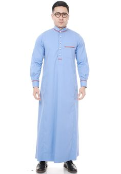 ... JUBAH UTHMAN LIGHT BLUE ...
