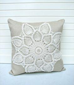 doily throw pillow