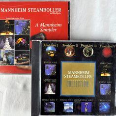 Mannheim Steamroller 2 Promo Cd Lot #Christmas + Fresh Aire Collection Sampler #chipdavis