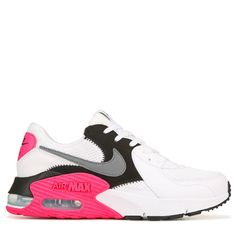 Nike Women's Air Max Excee Sneakers (White/Black/Pink) Source by famousfootwear fashion sneakers nike All Nike Shoes, Nike Shoes Air Force, Kicks Shoes, Hype Shoes, Sneakers Nike, Nike Shoes For Women, Nike Tennis Shoes, Nike Air Max For Women, Nike Women