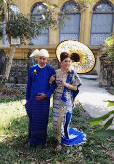 Myanmar traditional wedding dress www.odysseymyanmar.com