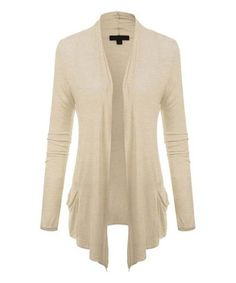 This Oatmeal Open Cardigan is perfect! #zulilyfinds