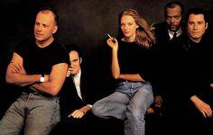 Bruce Willis, Quentin Tarantino, Uma Thurman, Samuel L. Jackson, John Travolta