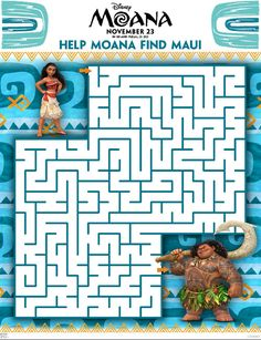 Grab Your FREE Moana Coloring Sheets & Activity Pages Here | #Moana #Disney