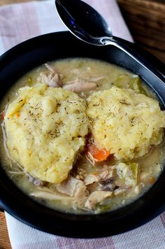 Crock Pot Chicken and Dumplings Recipe! This slow cooker recipe is absolutely delicious! Home made comfort food in the crock pot!