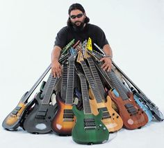 Stephen Carpenter and some of his axes!