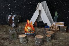 Ideas for decorating Campfire Stories