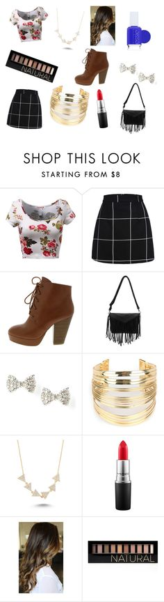 """havnt posted in a while"" by rojoubdalia on Polyvore featuring WithChic, Amorium, MAC Cosmetics, Forever 21, Essie, women's clothing, women, female, woman and misses"
