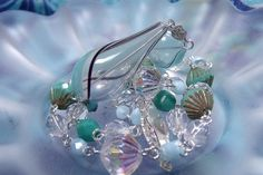 OOAK Turquoise and Crystal Czech and Blown Glass by EgeriasWell, $80.00